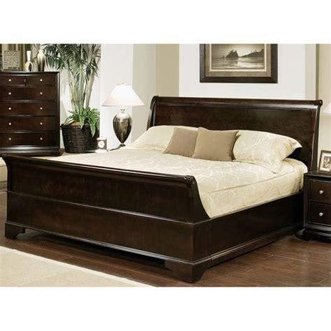 overstock king bed abbyson living kingston espresso sleigh california king