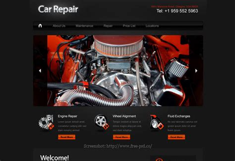 Car Wallpapers Free Psd Web Templates by Well Designed Psd Website Templates For Free