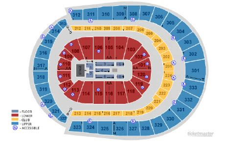 detailed seating chart bridgestone arena nashville tn bridgestone arena nashville tn seating chart view