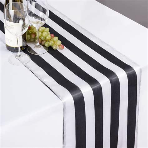 black white table runner 14 x 108 in black white striped satin table runner