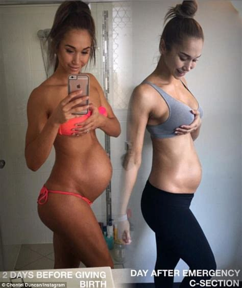 fit body after c section chontel duncan reveals doctors struggled to deliver her