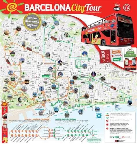 printable map barcelona city centre barcelona sightseeing map
