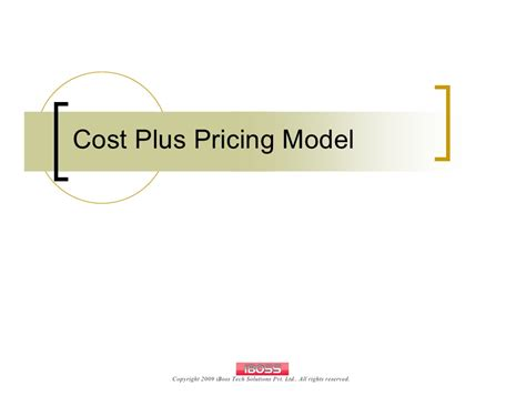 Cost Plus by Cost Plus Pricing