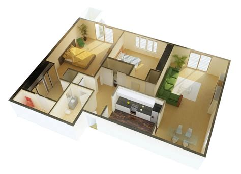 2 bedroom apartment house plans