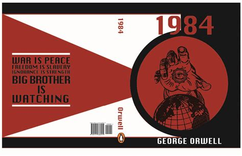 themes of 1984 george orwell 1984 book cover artbysarahjo