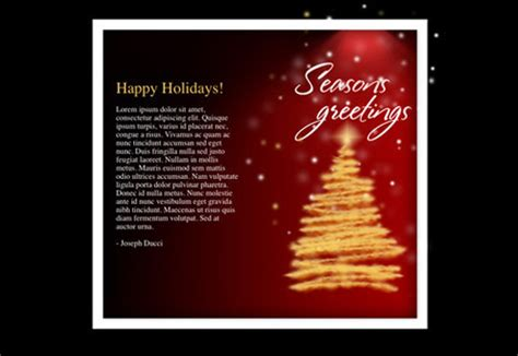seasons greetings templates free free html newsletter templates noupe