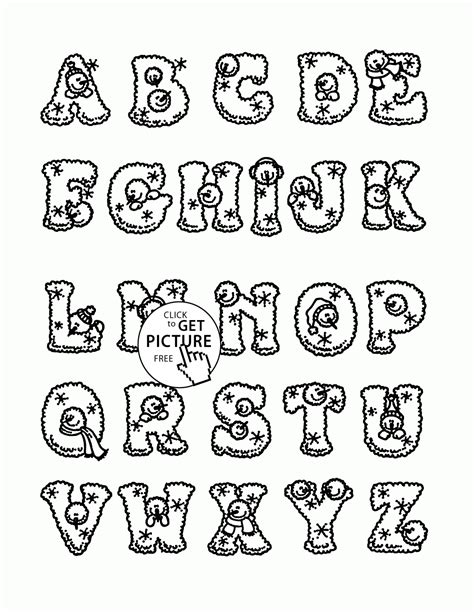 christmas abc coloring pages christmas alphabet coloring pages for kids letters