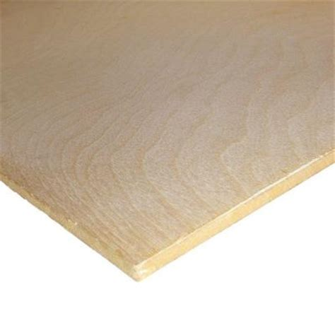 birch plywood common 1 4 in x 2 ft x 4 ft actual 0