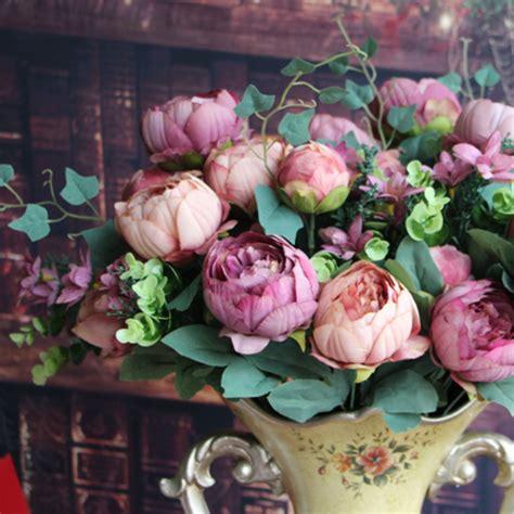 diy flower arrangement peonies 3 ways artificial fake peony silk floral pink flowers bridal
