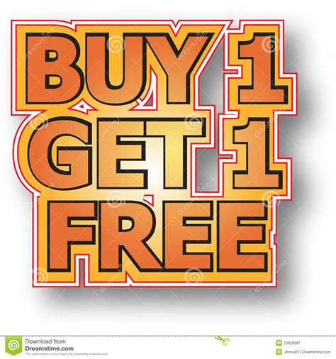 where to buy one buy 1 get 1 free stock image image 15826581