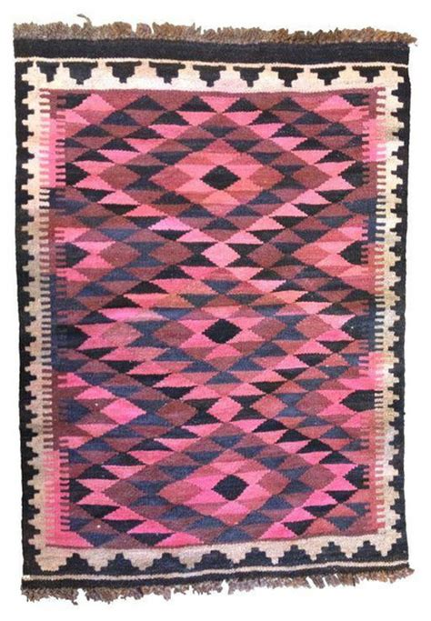 pink kilim rug vintage small pink kilim rug or wall hanging eclectic rugs san francisco by chairish