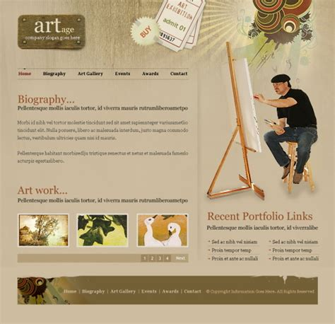 Fashion Art Web Template 6205 Art Photography Website Templates Dreamtemplate Painting Website Templates