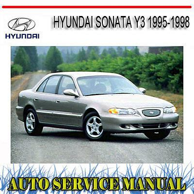 hyundai sonata y3 1995 1998 repair service manual dvd ebay