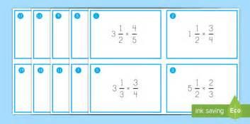 multiplying fractions using cards template multiplying fractions by mixed numbers task cards mixed