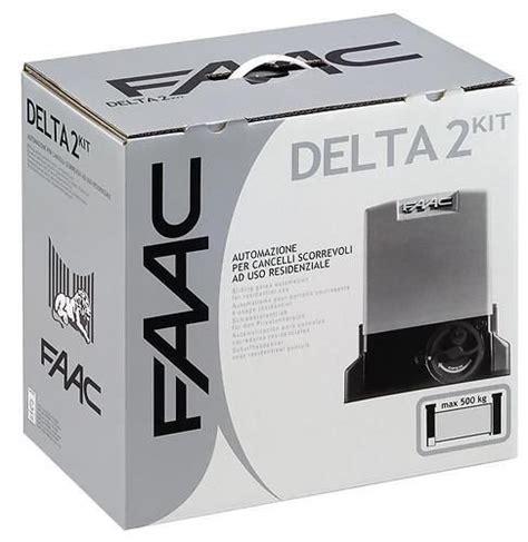comet illuminazione piacenza 105630344 faac delta 2 kit 230v automazione per cancelli