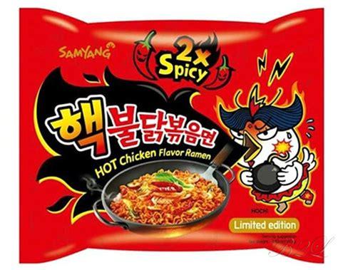 hottest korean noodles korea 2x spicy chicken noodle korean super hot fire ramen