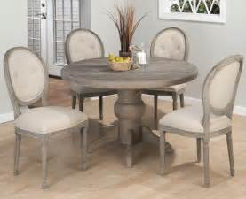 Gray Dining Table Jofran Burnt Grey Pedestal Dining Table In Solid Oak Beyond Stores