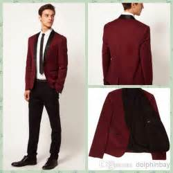 wine color tuxedo brand groom tuxedo wine shawl lapel groomsmen best
