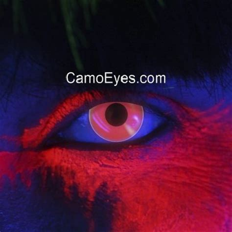 red uv glow contacts | camoeyes.com