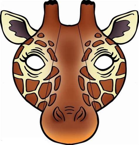 printable giraffe animal masks giraffe mask template 171 funnycrafts