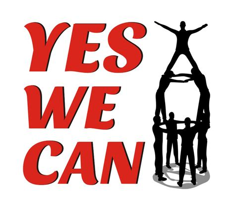 Bett Yes We Can by Yes We Can Clipart Clipground