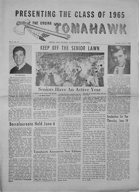 Encina High School 1965 newspapers