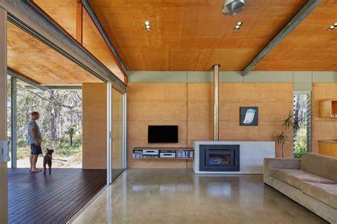 light filled home clad  corrugated steel