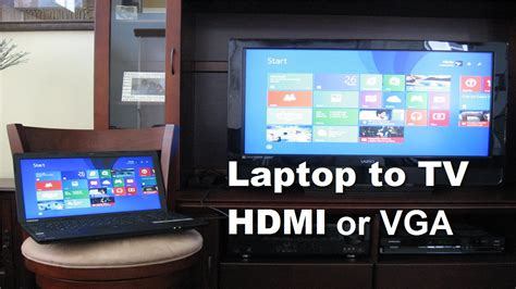 how to connect laptop to tv using hdmi cable or vga cable fast easy