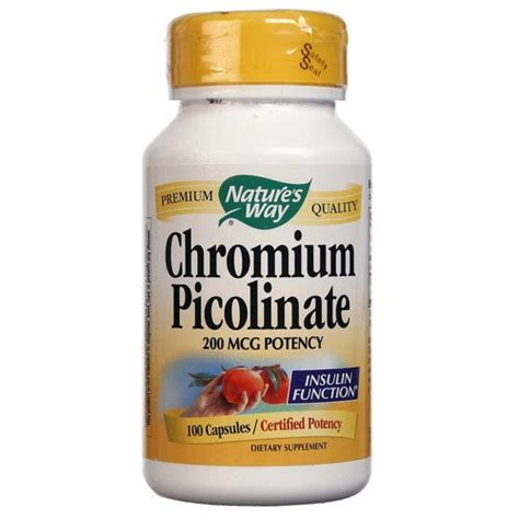 Chromium Picolinate Detox Liver by Nature S Way Chromium Picolinate 200 Mcg 100 Capsules