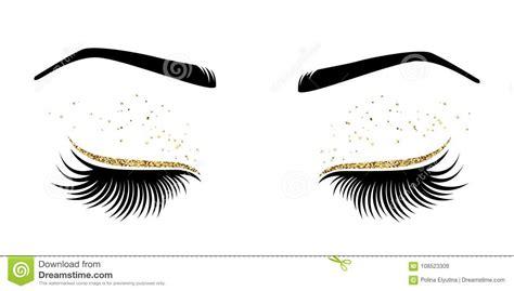 clipart occhi vector l illustrazione degli occhi con le sferze lunghe