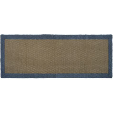 jute rugs with borders jute border rug 24 x 60 quot