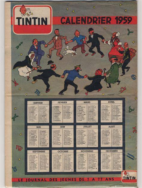 Calendrier De 1959 Tintin Calendrier 1959 3 X Curiosa 1958 1992
