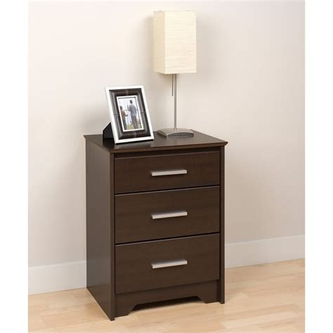 how tall should nightstands be tall 3 drawer nightstand in espresso finish ech 2027