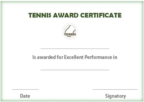 25 free tennis certificate templates download customize
