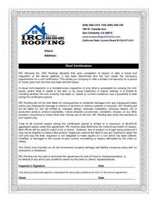 roof certification template pin roof inspection report template pin roof inspection