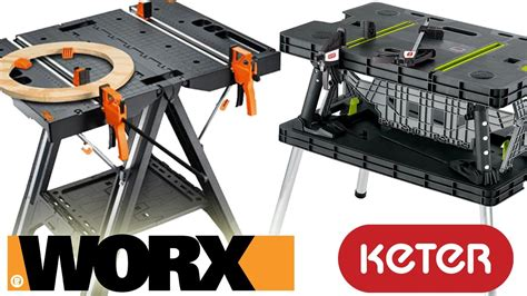 worx pegasus folding work table worx pegasus folding work table vs keter review and demo