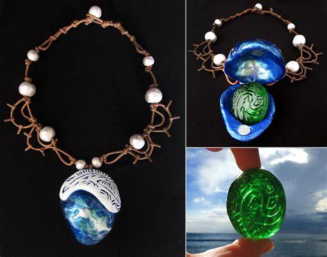 moana boat necklace moana s necklace and the heart of te fiti