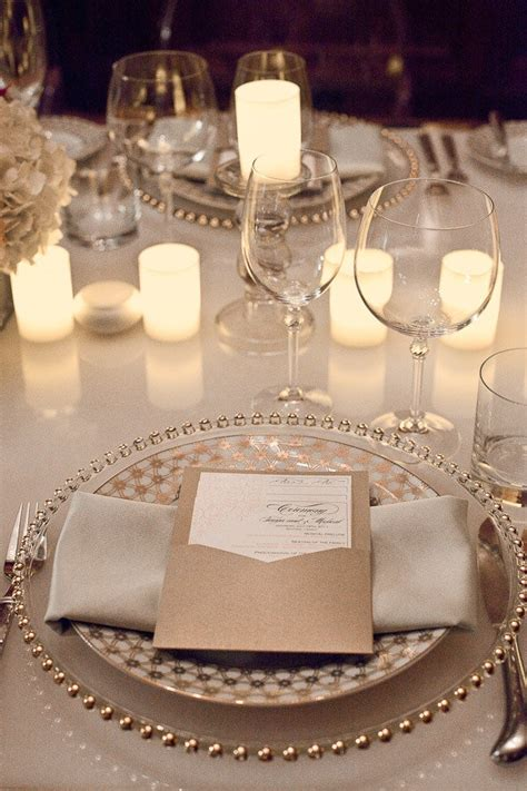 Dining Room Tablecloths by Beaded Charger Plate Hire