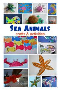 sea animal crafts amp activities no time for flash cards