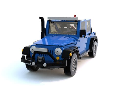 Jeep Accessories Jeep Wrangler Jk Lego Model Submitted To The Lego Ideas