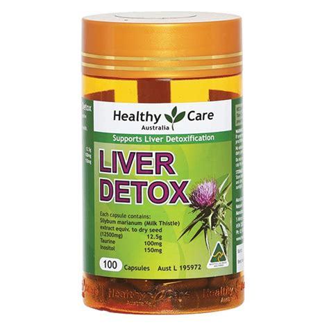 Liver Detox Australia by Buy Healthy Care Liver Detox 100 Capsules At