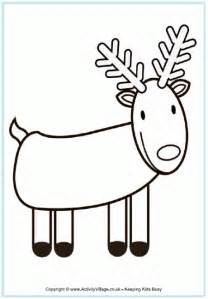 Colouring pages christmas themes reindeer reindeer colouring pages