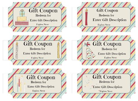 custom coupon book template free custom birthday coupons customize print at