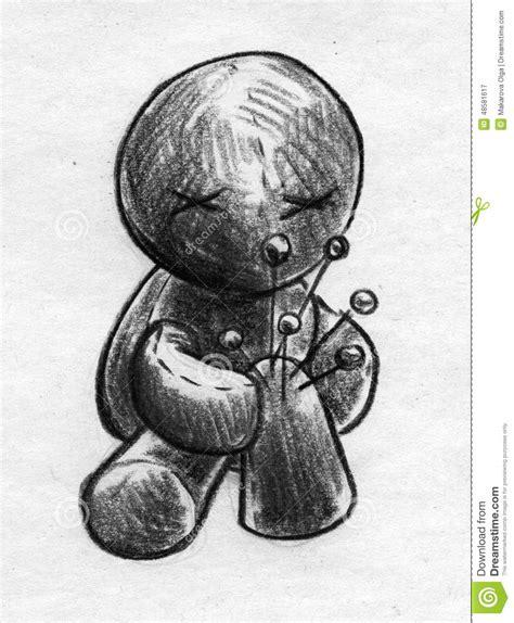 sketchbook joint joint voodoo doll sketch stock illustration image
