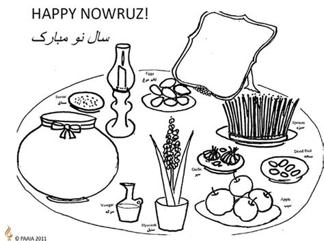 iranian new year coloring pages paaia s nowruz activity for kids 171 persian new year