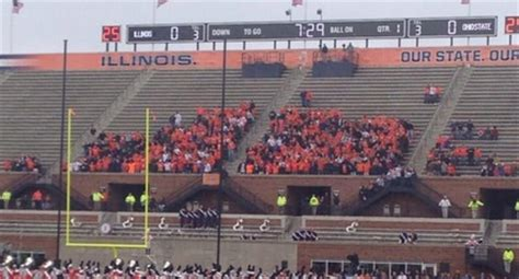 Ohio State Football Student Section by Illinois Student Section Had A Pathetic Showing Larry