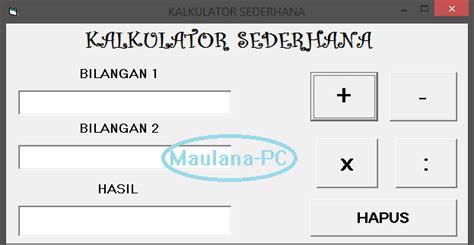 tutorial visual basic kalkulator tutorial membuat kalkulator sederhana dengan visual basic
