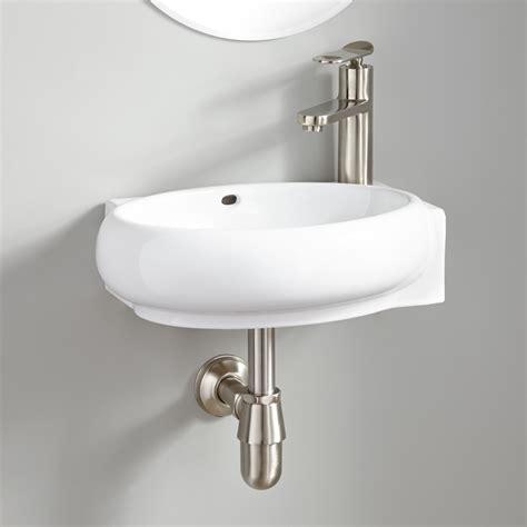 Leanne Mini Porcelain Wall Mount Sink Bathroom
