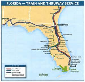 amtrak s florida routes in 2009 this amtrak system map
