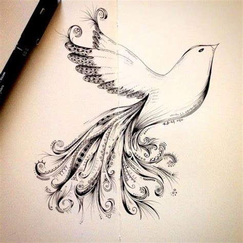 pattern drawing bird zentangle doodle tumblr